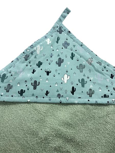 Καρφιτσωμένος Γάτος - Μπουρνουζοπετσετα - Green Cactus
