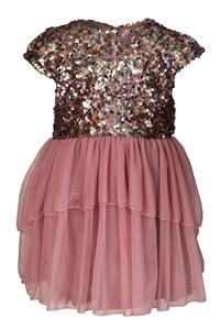 M&B Fashion Φόρεμα Με Παγιέτες Παιδικό, Ροζ