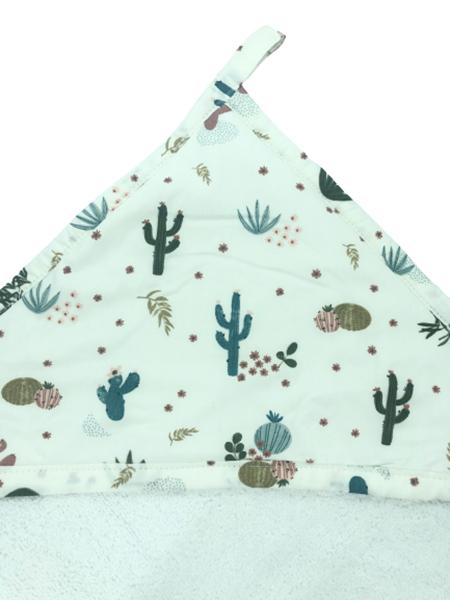 Καρφιτσωμένος Γάτος - Μπουρνουζοπετσετα - White Cactus