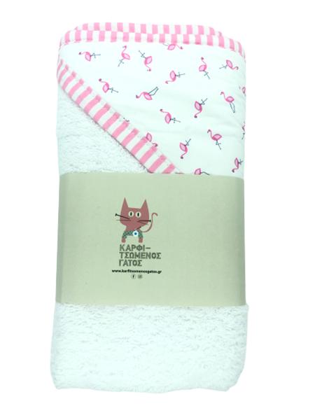Καρφιτσωμένος Γάτος - Μπουρνουζοπετσετα - Flamingos