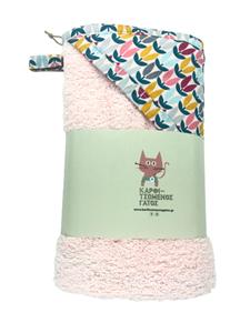 Καρφιτσωμένος Γάτος - Μπουρνουζοπετσετα - Pink Flowers