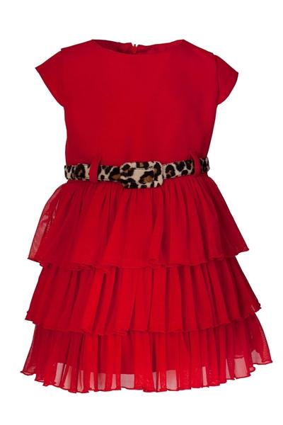 M&B Fashion Φόρεμα Με Τούλι Παιδικό, Κόκκινο