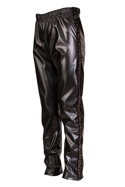 M&B Fashion Κολάν Δερματίνη, Μαύρο