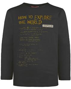 Energiers Μπλούζα Βαμβακερή Τύπωμα Αγόρι Μαύρη