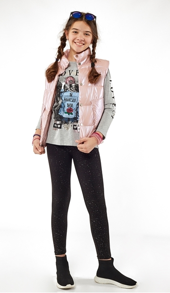 Εβίτα Fashion Γιλέκο Γυαλιστερό, Ροζ