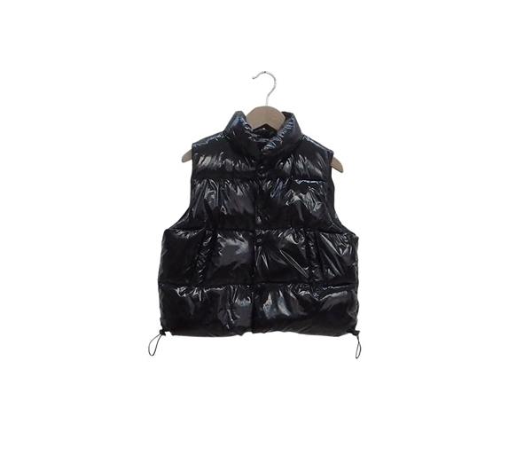 Εβίτα Fashion Γιλέκο Γυαλιστερό, Μαύρο