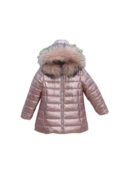 Εβίτα Fashion Μπουφάν Γυαλιστερό, Ροζ