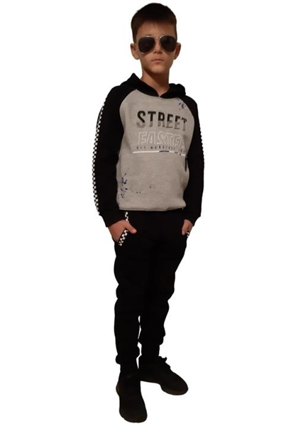 Hashtag Σετ Φόρμας Street Faster Αγόρι, Μαύρο Γκρί