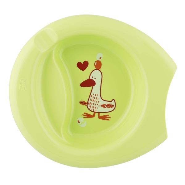 Chicco Πιάτο με Αντιολησθητική Βάση 6m+ Πράσινο