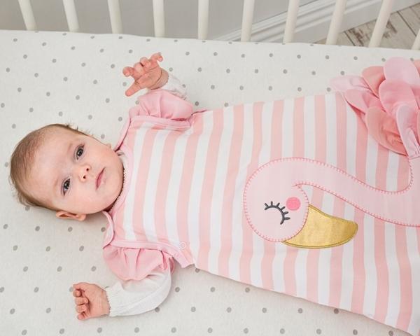 Bizzi Growin Υπνόσακος 2.5 tog Χειμωνιάτικος 0-6 μηνών Flora Flamingo