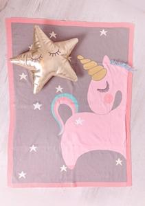 Bizzi Growin Βαμβακερή Κουβέρτα Unicorn