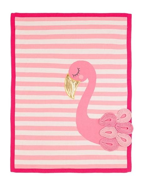 Bizzi Growin Βαμβακερή Κουβέρτα Flora Flamingo