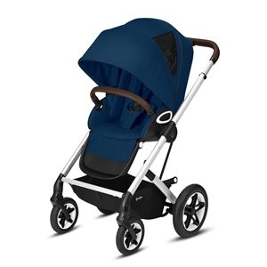 Cybex Βρεφικό Καρότσι Talos S Lux, Navy Blue (Silver Frame)