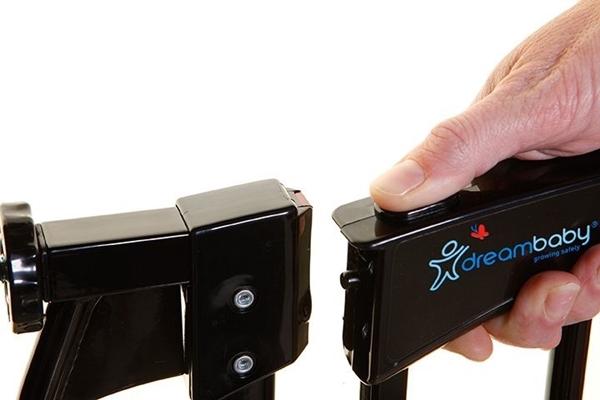 DreamBaby Μεταλλική Πόρτα Ασφαλείας Chelsea Auto Close Black 71-80 εκ.