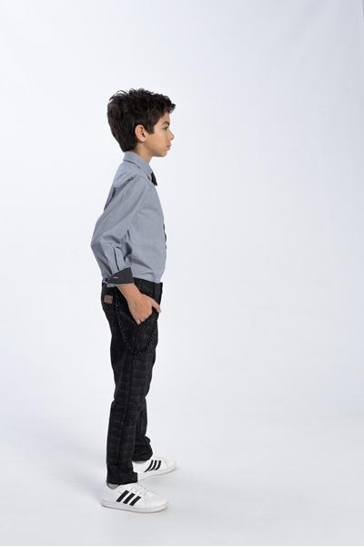 Funky Πουκάμισο Για Αγόρι Με Τσέπη, Γκρί