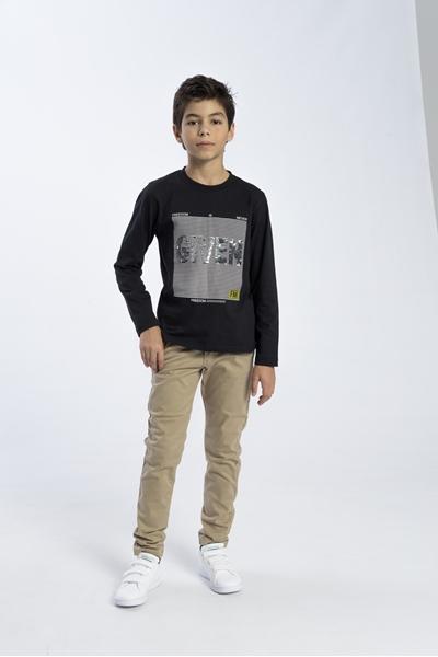 Funky Μπλούζα Για Αγόρι Given Παγιέτες, Μαύρο