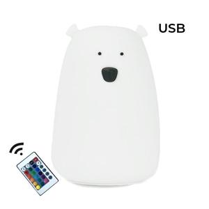 Rabbit & Friends Φωτάκι Νυκτός Bear White με χειριστήριο