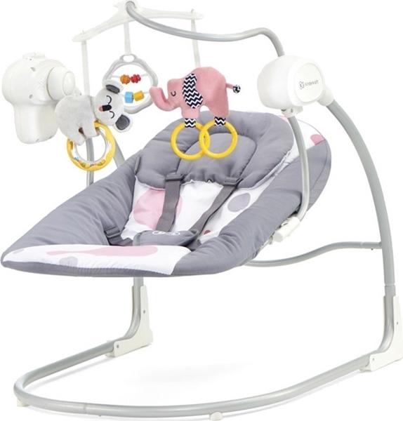 Kinderkraft Βρεφική Κούνια Relax Minky, Pink