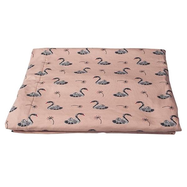 Καρφιτσωμένος Γάτος - Βρεφική Κουβέρτα Αγκαλιάς με σχέδιο Κύκνοι