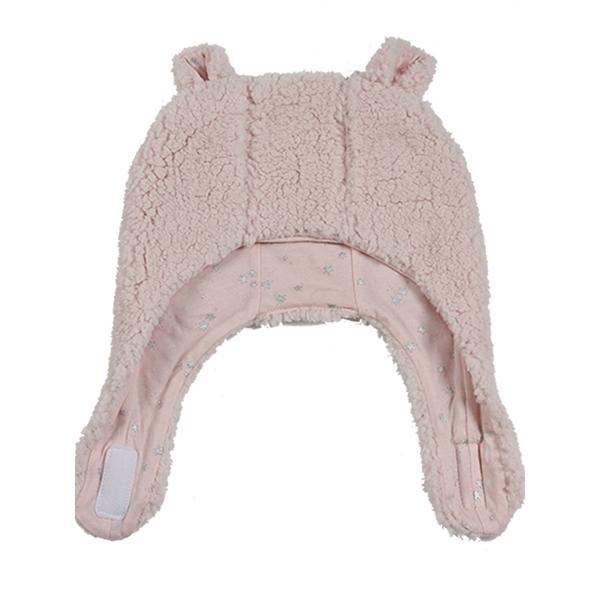 Minene Σκουφάκι Luxurious Bear Light Pink 6-12 μηνών