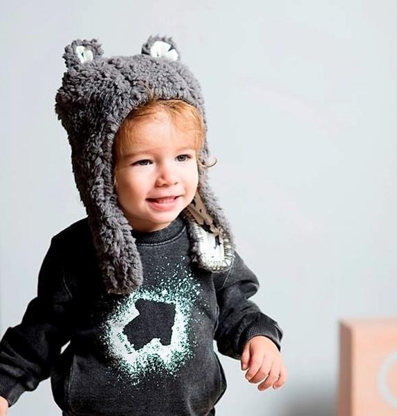 Minene Σκουφάκι Luxurious Bear Light Blue 18-24 μηνών