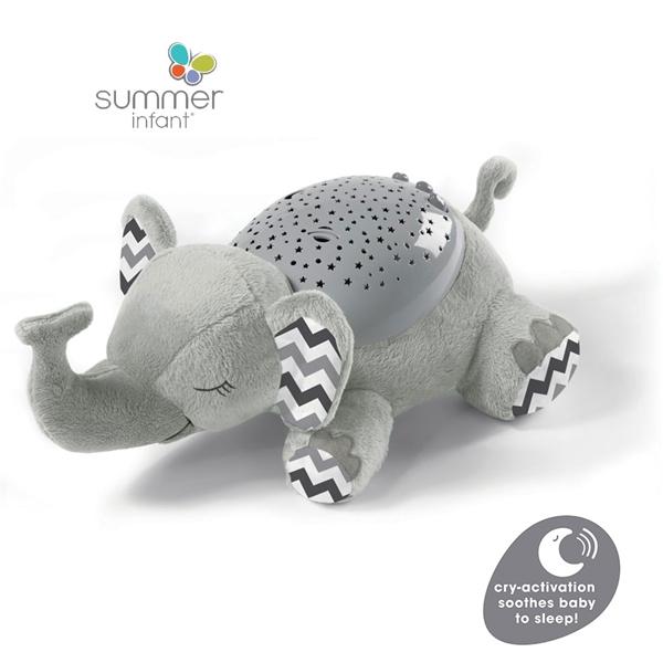 Summer Infant Slumber Buddies® Deluxe Grey Chevron Elephant