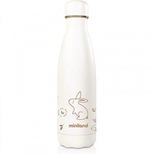 Miniland Ανοξείδωτος Θερμός Υγρών Natur Bottle Bunny 500ml.