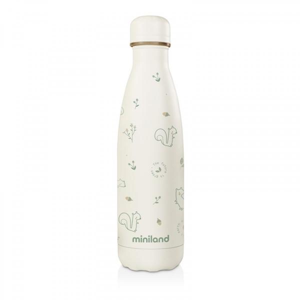 Miniland Ανοξείδωτος Θερμός Υγρών Natur Bottle Chip 500ml.