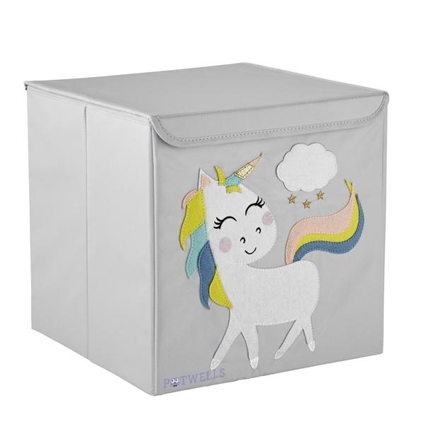 Potwells – Κουτί Αποθήκευσης Μονόκερος 33x32x32cm
