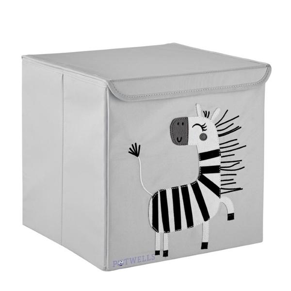 Potwells – Κουτί Αποθήκευσης Ζέβρα 33x32x32cm