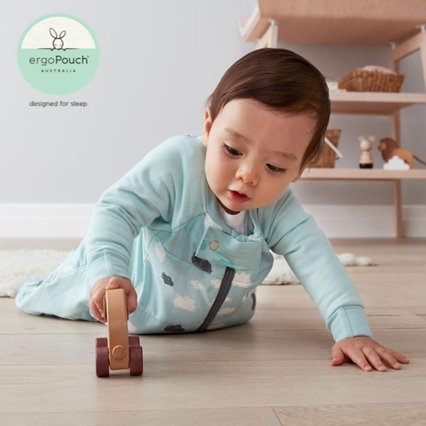 ergoPouch Sleep Suit Υπνόσακος Βρεφικός 2 σε 1  2.5 tog 8-24 μηνών Mint Clouds