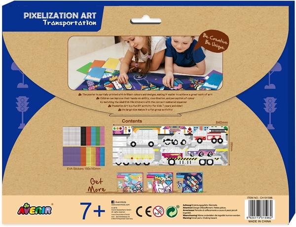Avenir - Pixelation Art, Transportation