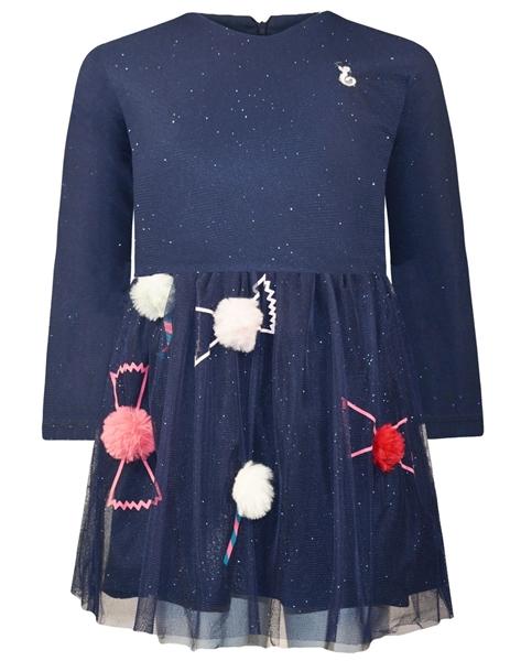 Energiers Φόρεμα Bebe Με Τούλι Και Διακοσμητικά Πον Πον