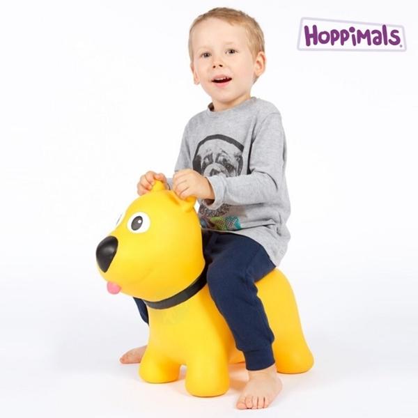 Hoppimals Φουσκωτό Χοπ Χοπ, Κίτρινος Σκύλος