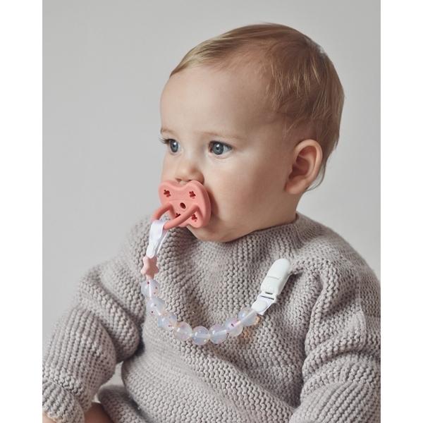 Nibbling Αλυσιδα Στήριξης Πιπίλας Pluto Candy Pink