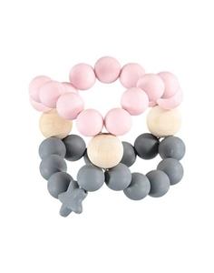 Nibbling Μασητικό Κύβος Οδοντοφυίας Pink and Grey