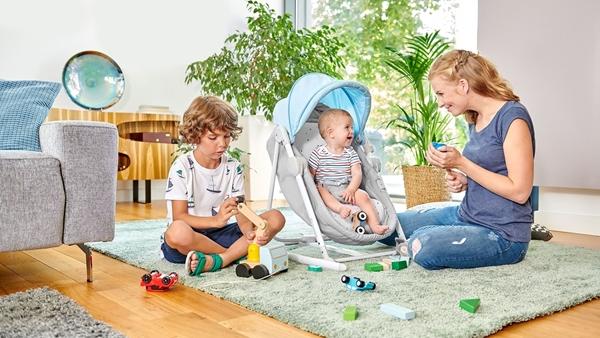 Kinderkraft Βρεφικό Ρηλάξ 5 σε 1 Unimo, Stone Grey