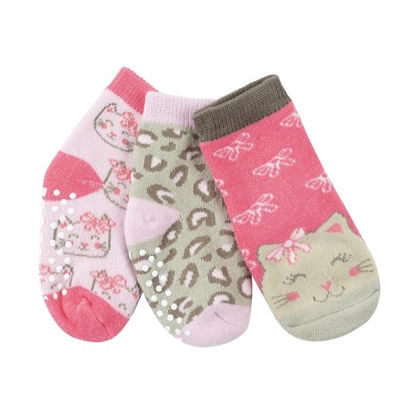 Zoocchini - Αντιολισθήτικά Καλτσάκια Grip + Easy Καλτσάκια Kallie the Kitty 0-24 μηνών