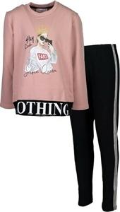Εβίτα Fashion Σετ Μπλούζα Mε Κολάν Nothing Ροζ