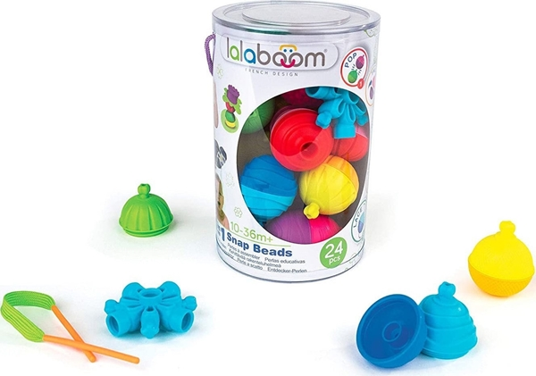 Lalaboom Εκπαιδευτικό Παιχνίδι Κύλινδρος 24τμχ Χάντρες και Αξεσουάρ