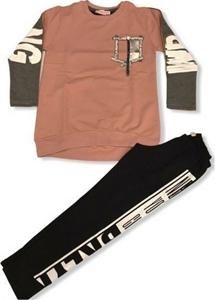 Εβίτα Fashion Σετ Μπλούζα Mε Κολάν Styling, Ροζ