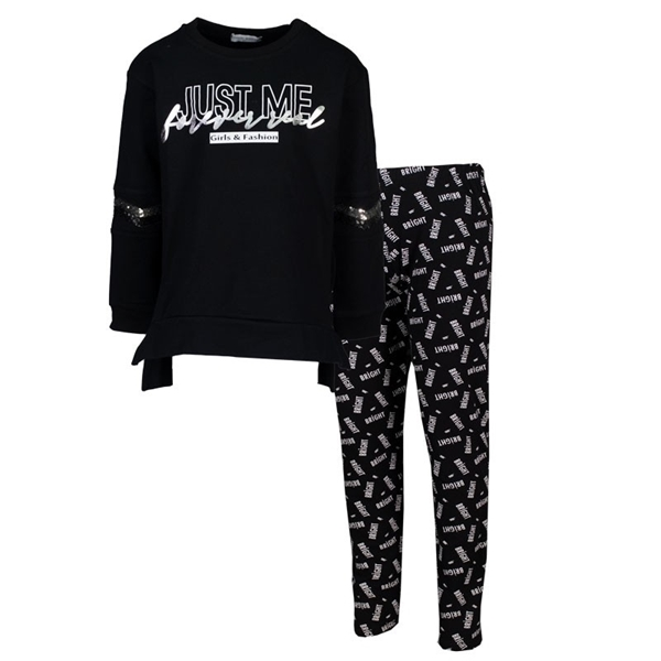 Εβίτα Fashion Σετ Μπλούζα Mε Κολάν Just Me, Μαύρο