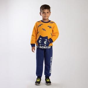 TRAX Παιδικό Σετ Φόρμας Αγόρι Νυχτερίδα Κίτρινη