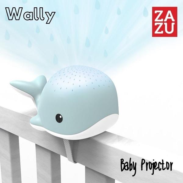 Zazu Wally the Whale Προτζέκτορας Φάλαινα Φωτιστικό με Λευκούς Ήχους