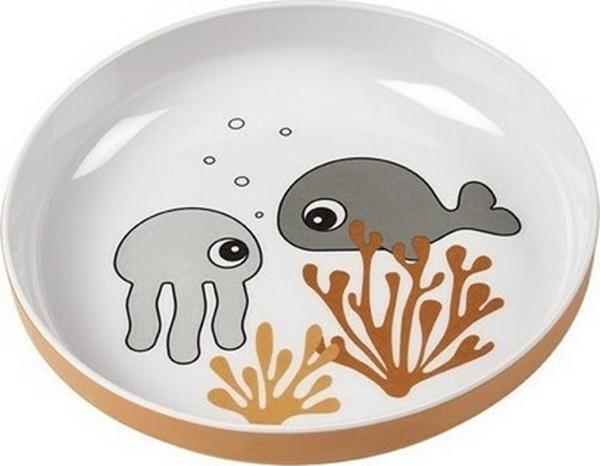 Done by Deer Πιάτο Yummy Mini Sea Friends Mustard