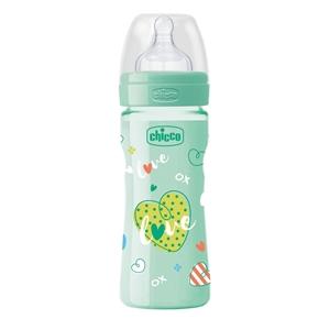 Chicco Well Being Μπιμπερό Πλαστικό Πράσινο Θ.Σ. 2m+ 250ml