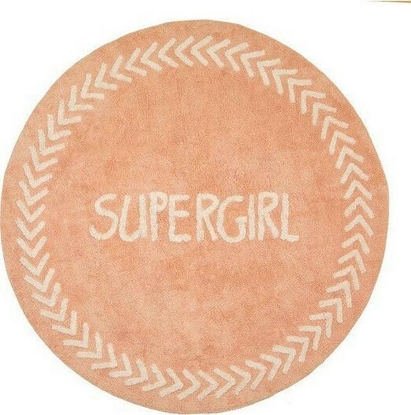 Baby Adventure Χαλί Δωματίου Pink Supergirl 150cm