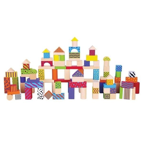 New Classic Toys Ξύλινα Μπλοκ Κατασκευών Fantasy 100 τεμάχια