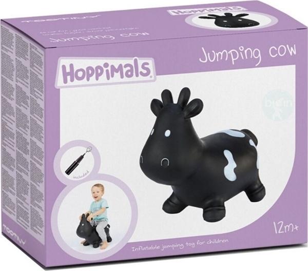 Hoppimals Φουσκωτό Χοπ Χοπ, Αγελάδα Μαύρη