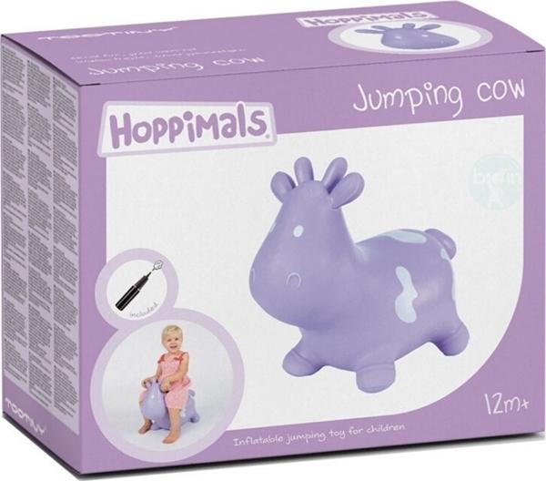 Hoppimals Φουσκωτό Χοπ Χοπ, Αγελάδα Purple